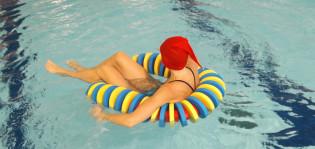 Tonttuja Impivaaran uimahallissa