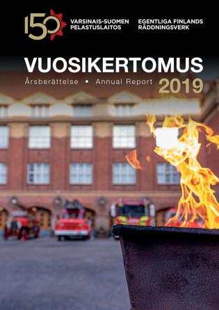Varsinais-Suomen pelastuslaitokosen vuosikertomuksen 2019 kansilehti