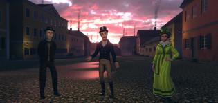 Virtuaalisia hahmoja historiasta Turku goes 1812 digitaalisessa maailmassa.
