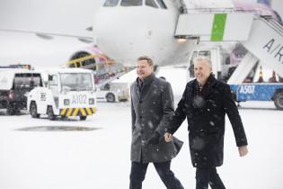 Turun yhteysjohtaja Antti Kirkkola ja Turun Yrittäjien puheenjohtaja Jari Rastas.