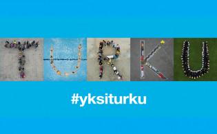Kampanjan kuvat muodostavat sanan Turku