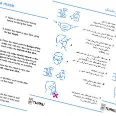Koronaohjeita on tarjolla monella eri kielellä.