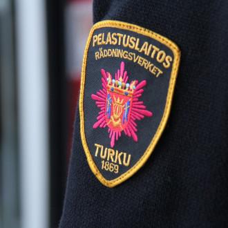 Varsinais-Suomen aluepelastuslaitoksen hihamerkki