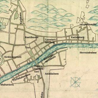 1600-luvun kartta Turun kaupungista