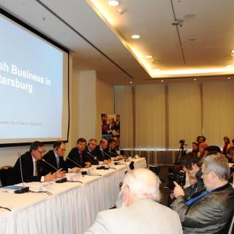 Kaupunginjohtaja puhui noin 70 venäläistoimittajalle Finnish Business in St.Petersburg –tapahtumassa.