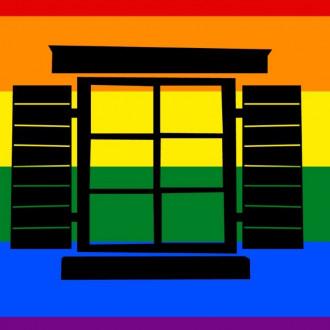 Luostarinmäen tunnus pride-väreissä