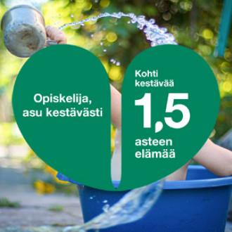 Veden roiske 1,5 asteen kampanjalogolla
