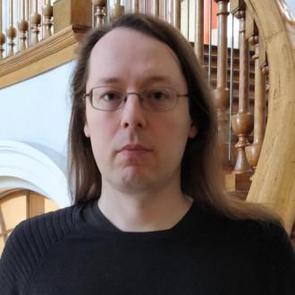 Robert Storm kirjaston portaikossa