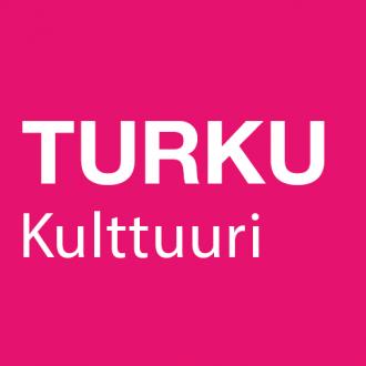 Pinkin värinen neliö, jossa lukee Turku Kulttuuri.