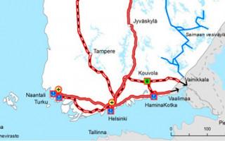 EU:n päättämät ydinverkot Suomessa.
