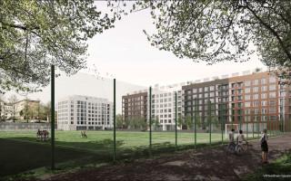 Havainnekuvassa Parkin kentän kehittäminen.