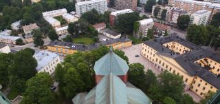 Näkymä tuomiokirkon tornista