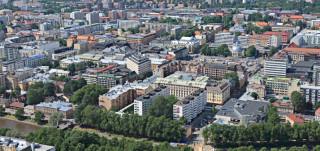 Turun kaupunki ilmasta kuvattuna