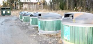 Jätteenkeräyspiste Hirvensalossa