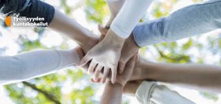 Kädet nipussa ja työllisyyden kuntakokeilut -logo