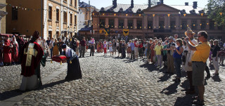 Kuva keskiaikaisilta markkinoilta