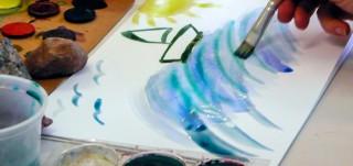 Vesiväreillä maalataan