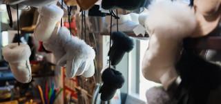 Luostarinmäen turkisompelijan tekemiä tuotteita.