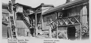 Palanderien talo Luostarinmäellä, vanha postikortti