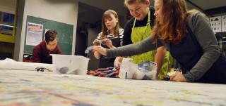 Nuoret maalaavat Präkäämössä