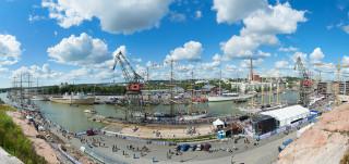 Panoraama Aurajoesta Tall Ships Races 2017 -tapahtuman aikaan.