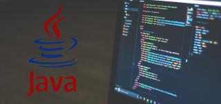 Näyttökuvaa joodista ja vasemmalla Javan logo.