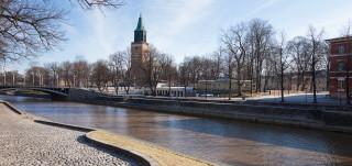 Åbo domkyrka och Aura å