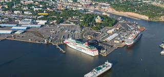 Ilmakuva Turun satama-alueesta
