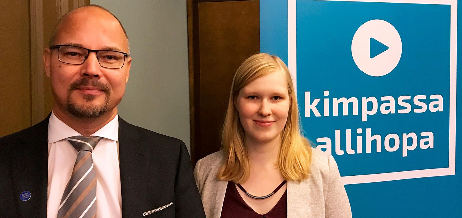 Antti Parpo ja Laura Virtanen