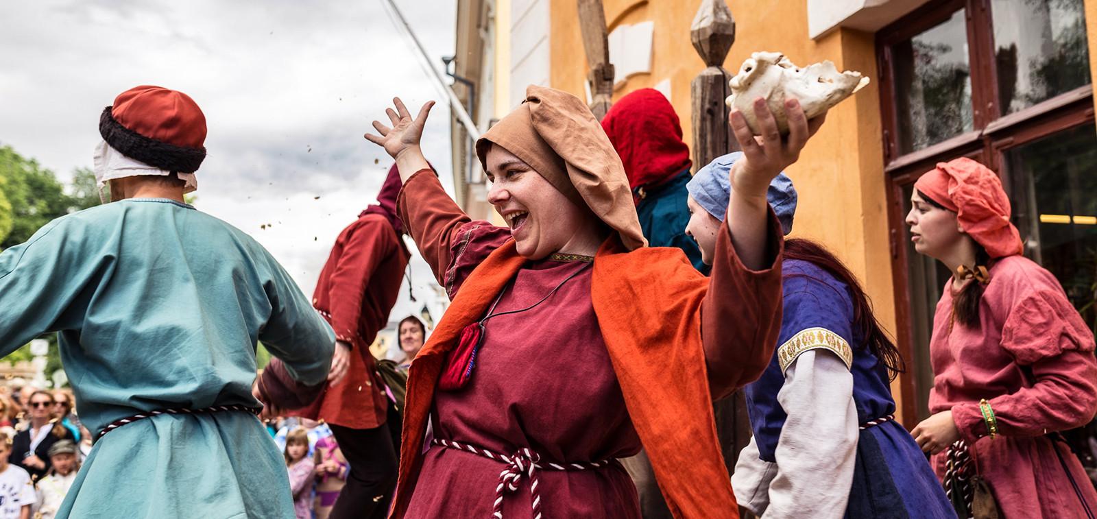 Keskiaikaiset markkinat. Kuva: Sami Maanpää