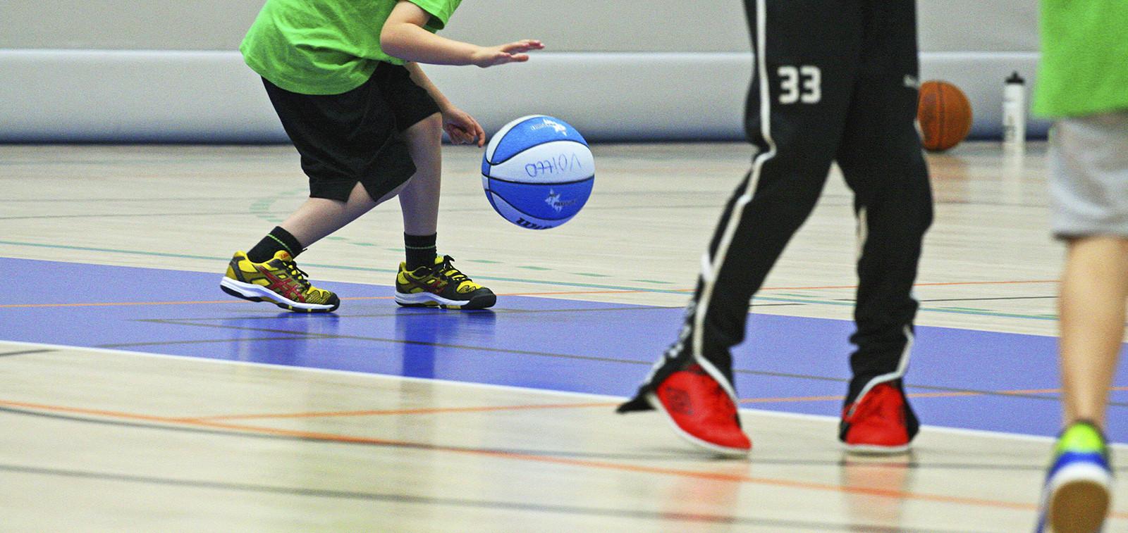 Lapset pelaavat korista Kupittaan palloiluhallissa.