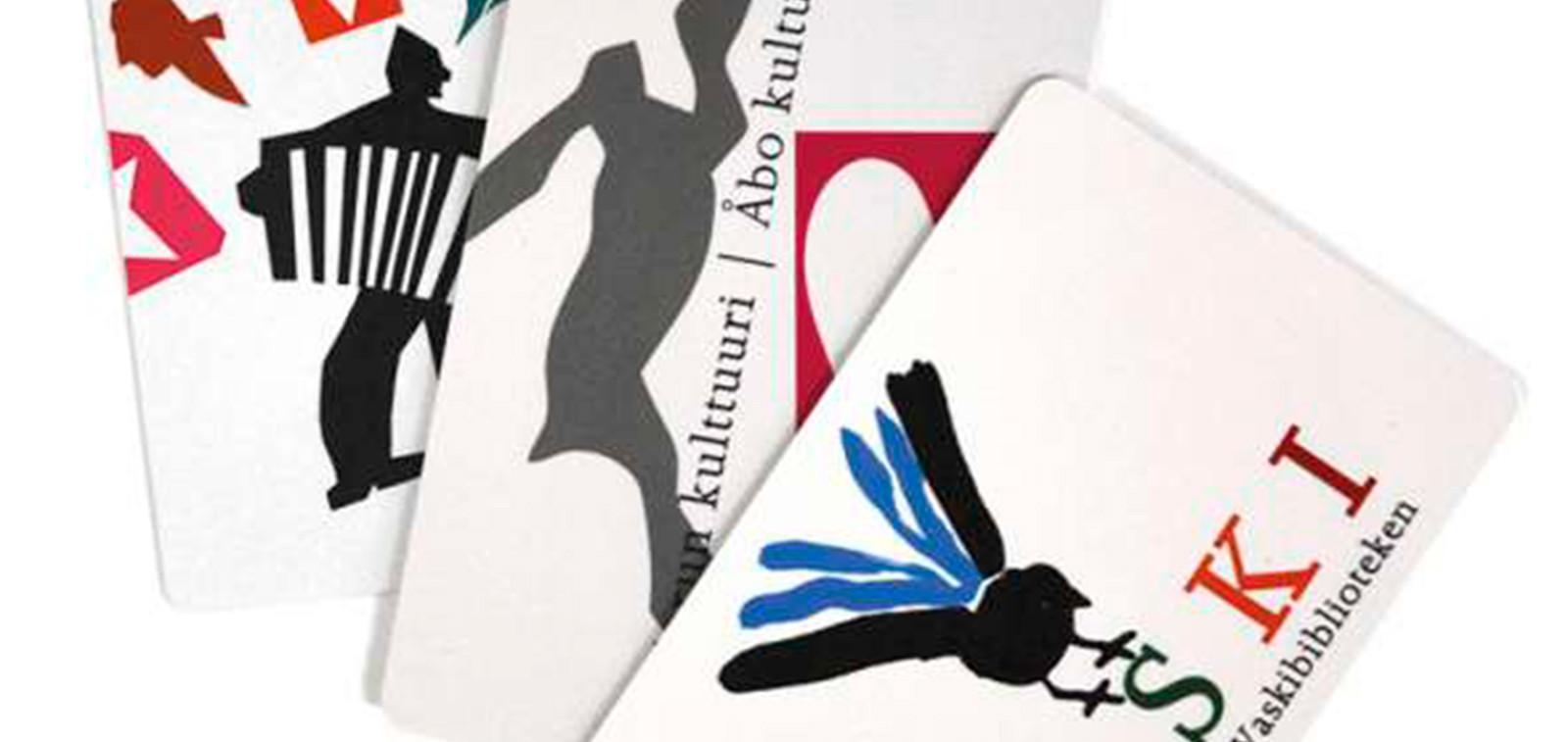Kirjastokortit, jotka toimivat haluttaessa myös Kulttuurikortteina