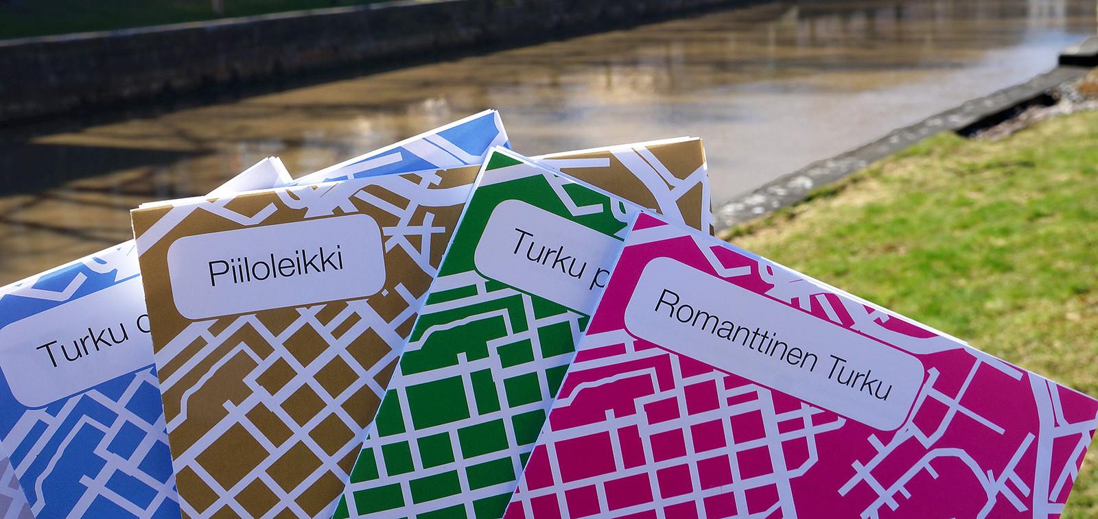 Kulttuurikuntoilureittien karttoja