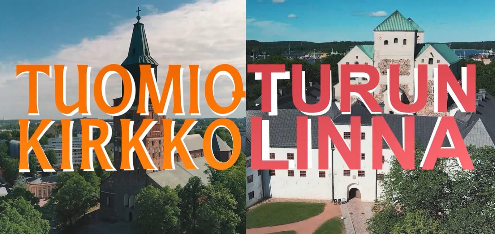 Kuva Turun linnasta ja Turun tuomiokirkosta