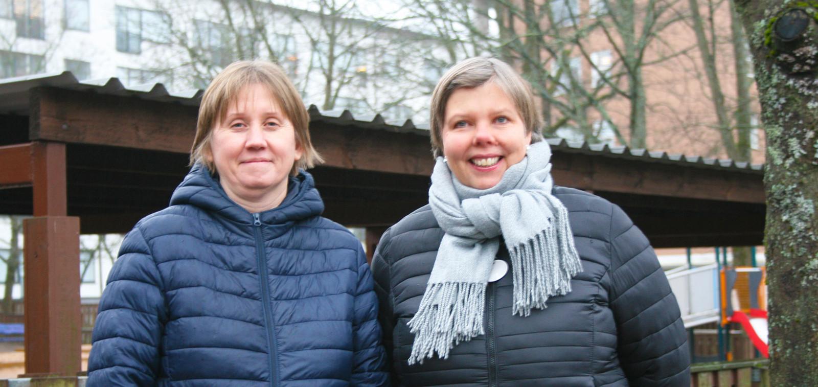 Maria Karlsson och Malin Järvinen.