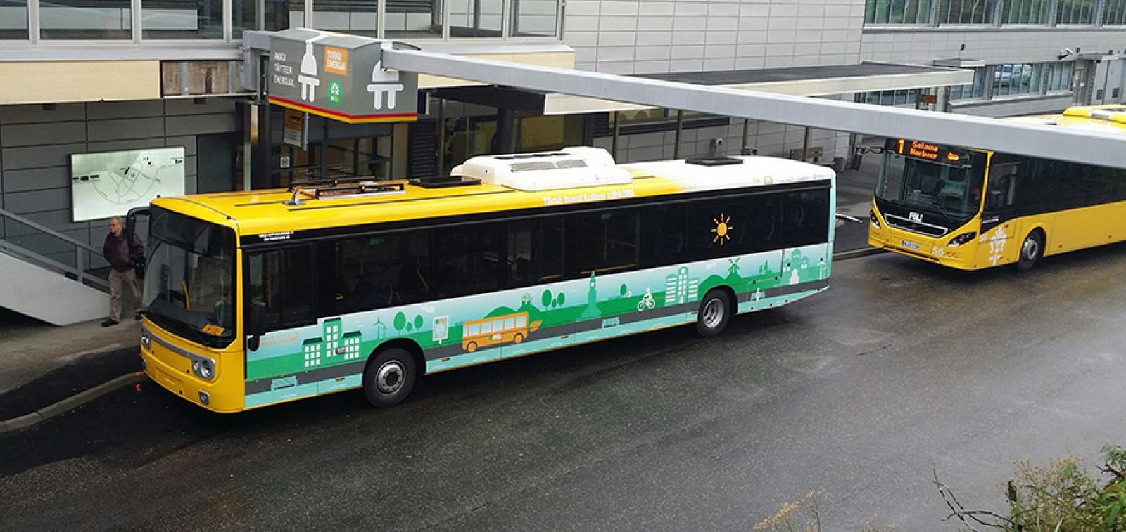 Turun ensimmäinen sähköbussi