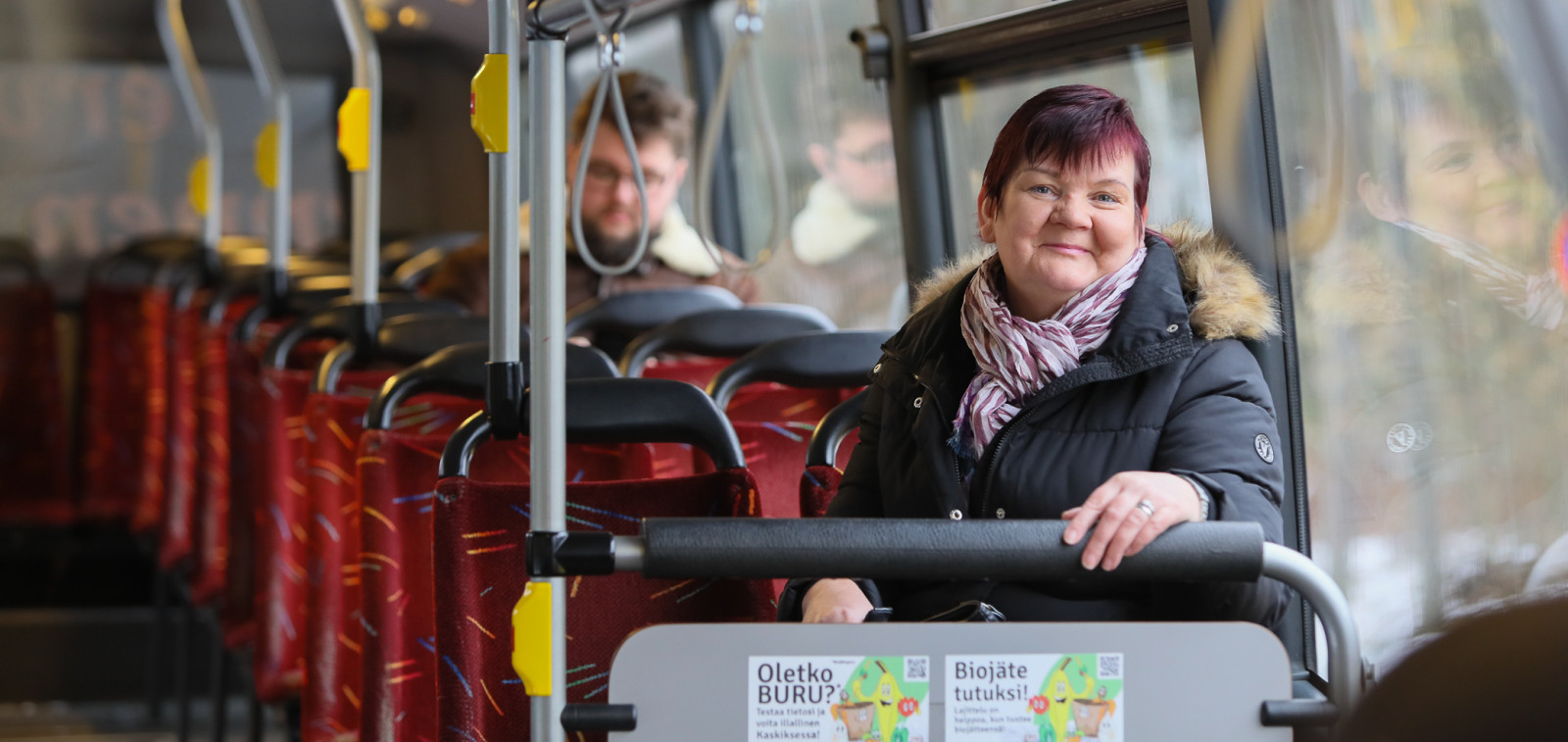 Sirpa Laurent bussissa