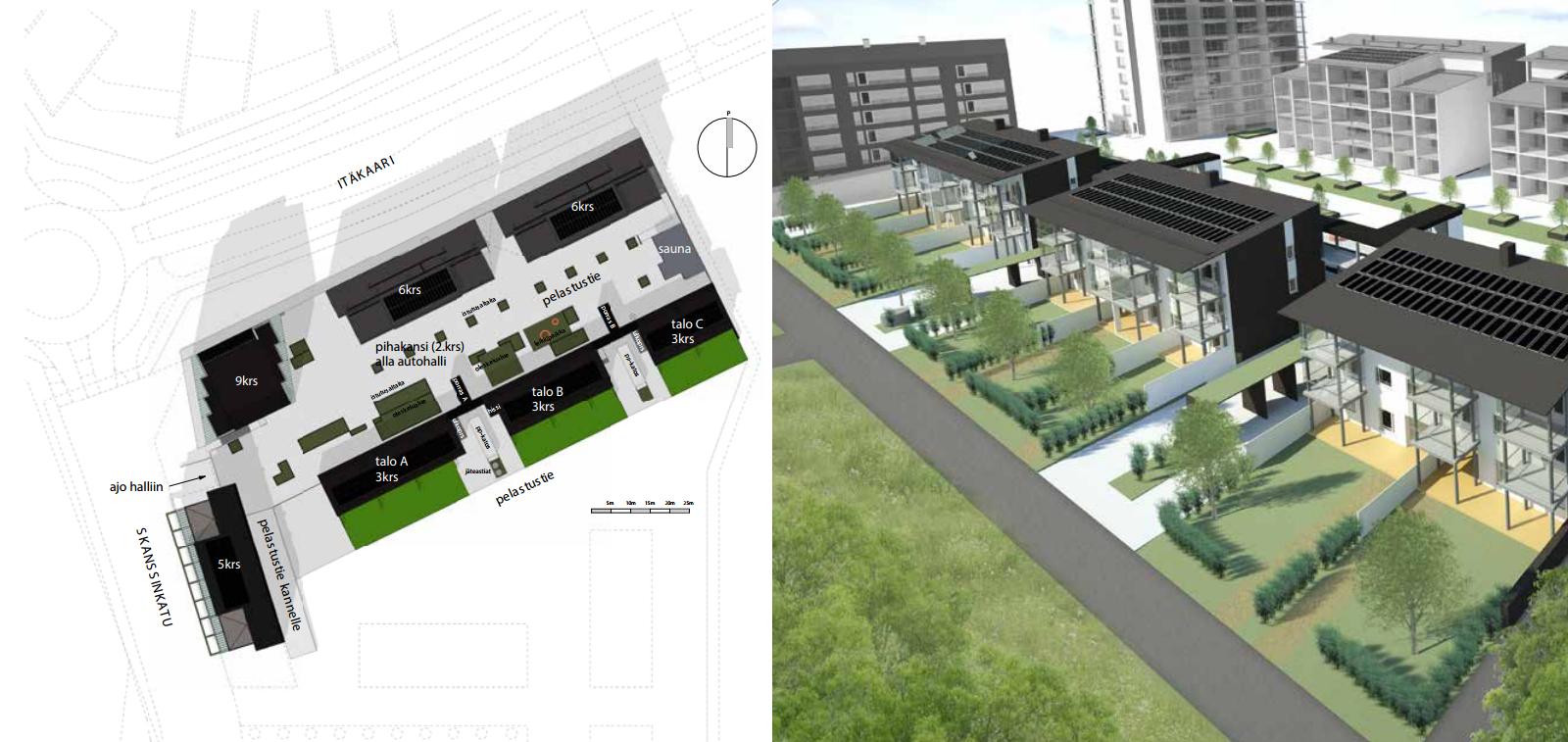 Asuntorakentaminen Skanssin alueella on alkanut