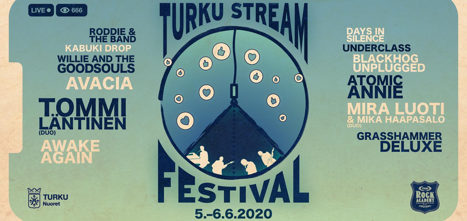 Turku Stream Festival 2020 tapahtumassa esiintyy mm. Mira Luoti ja Mika Haapasalo sekä Avacia