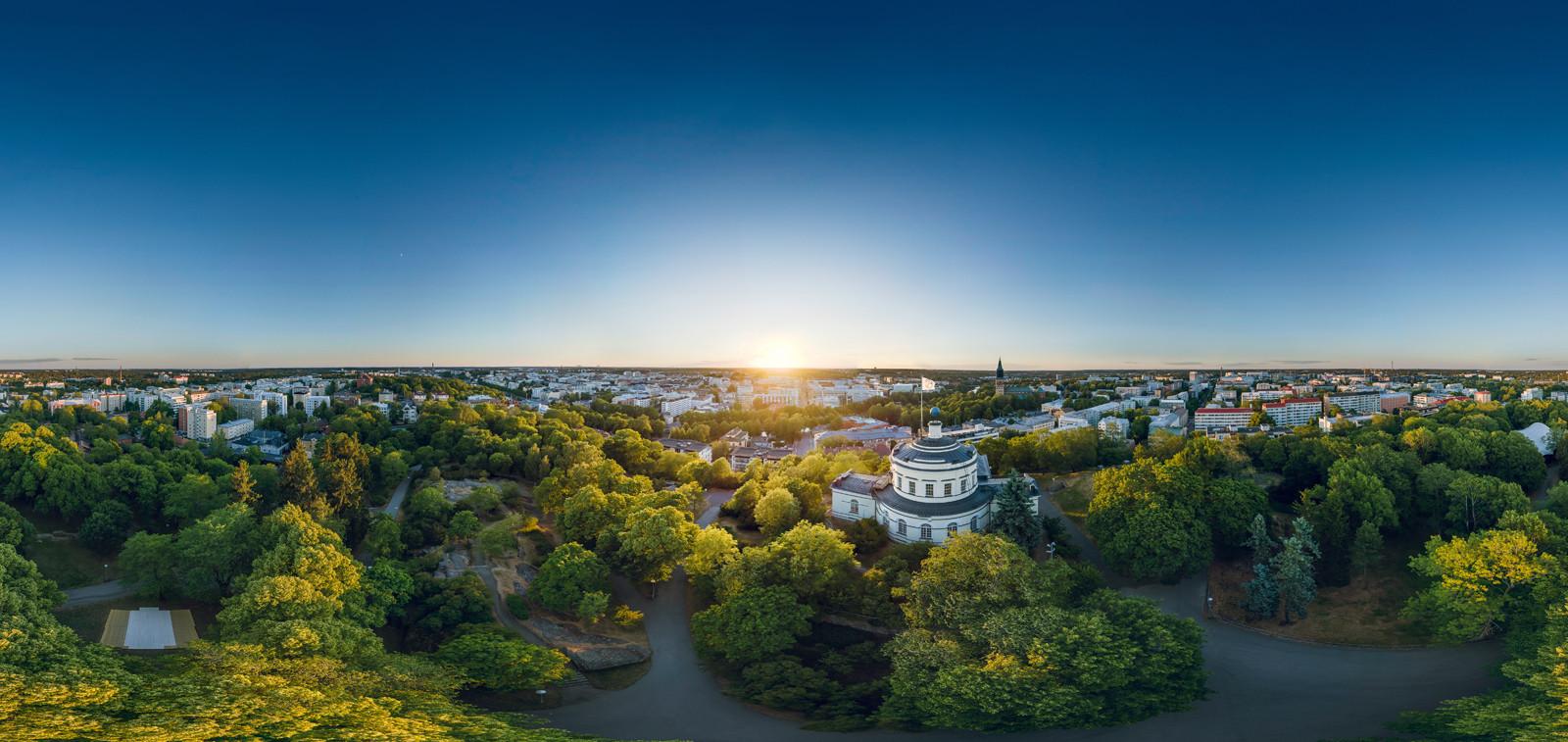Turku kesällä Vartiovuorelta