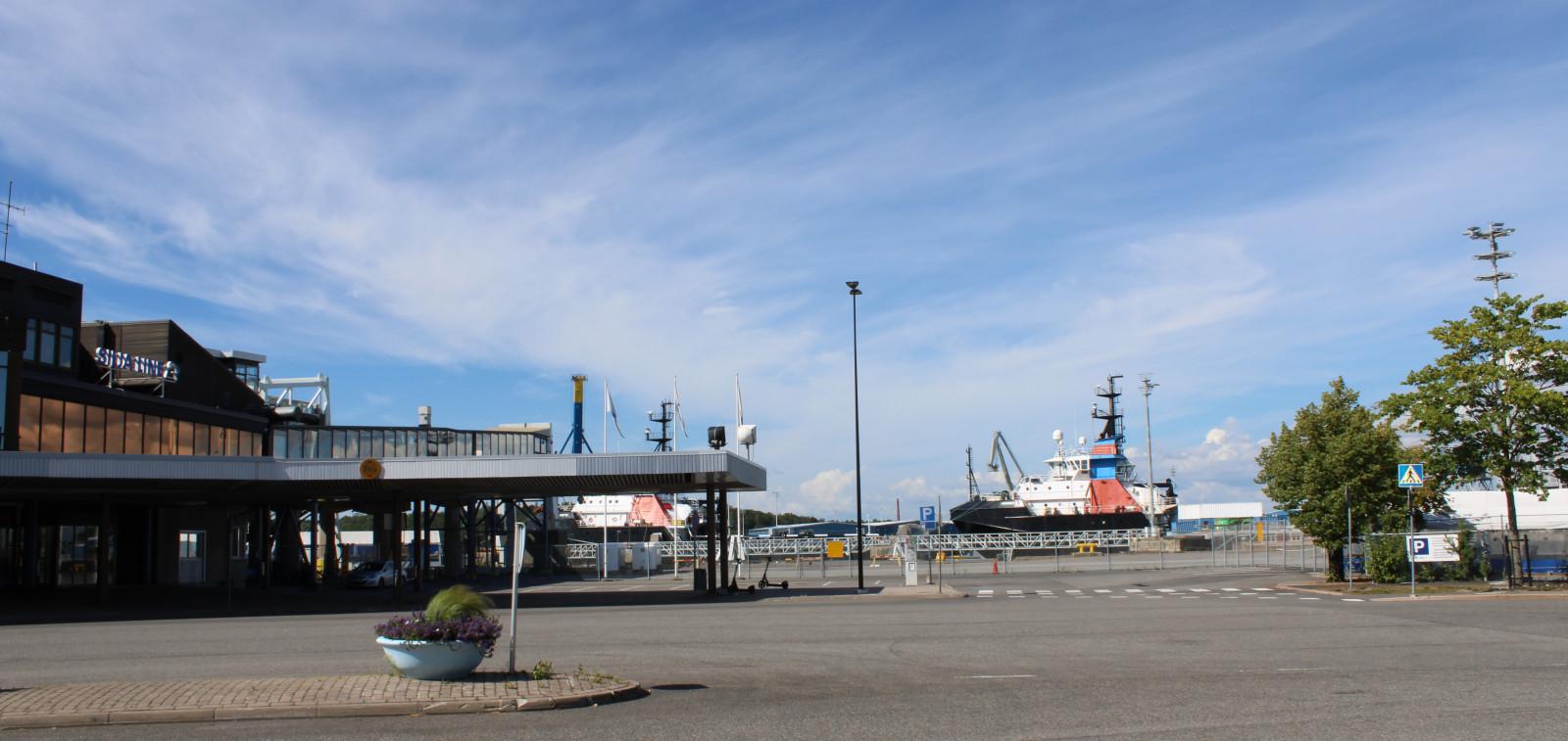 Kuva Turun sataman parkkipaikalta