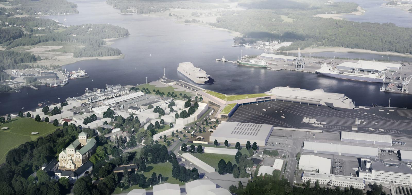 Havainnekuva satama-alueesta