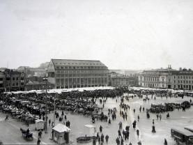 Elämää ikkunan takana -luentosarjan kuva – kauppatori 1920-luvulla