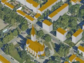 Kaupunkimalli kuvaa maastoa kolmiulotteisena