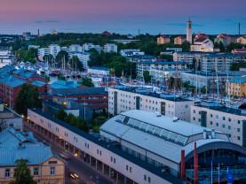 Turun kaupunki ilmasta ilta-aikaan