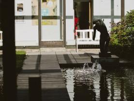 Wäinö Aaltosen Susanna museon atrium-pihassa